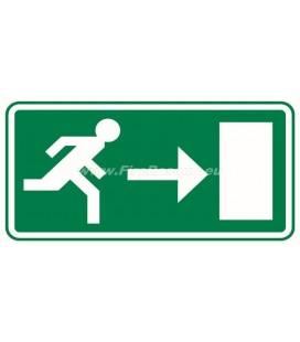 EVACUATION LABEL RIGHT